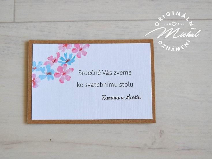Pozvánka ke svatebnímu stolu - TYP 04