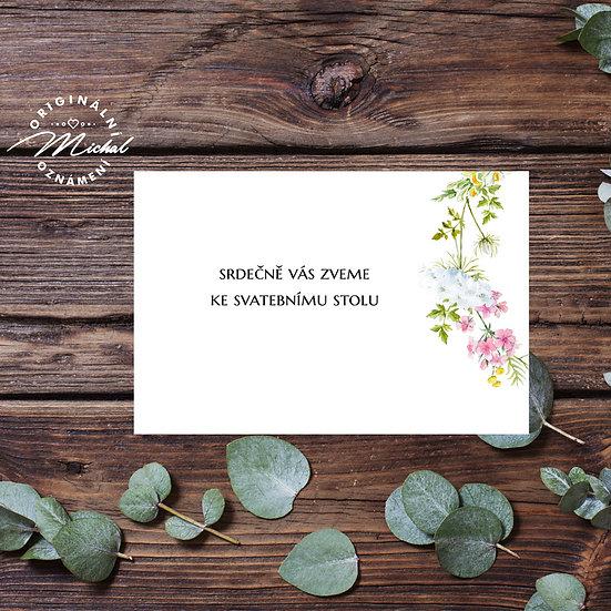 Pozvánka ke svatebnímu stolu - TYP 338