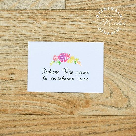 Pozvánka ke svatebnímu stolu - TYP 48