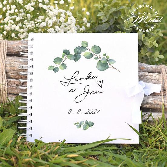 Svatební kniha hostů v pevných knižních deskách - 83