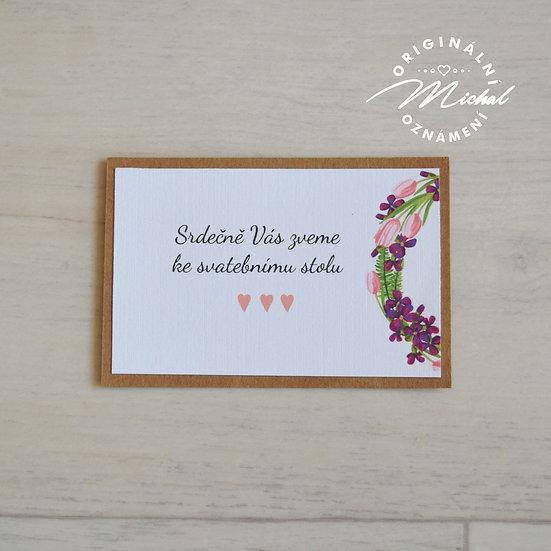 Pozvánka ke svatebnímu stolu - TYP 03