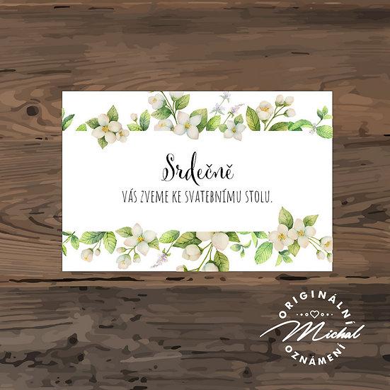 Pozvánka ke svatebnímu stolu - TYP 225
