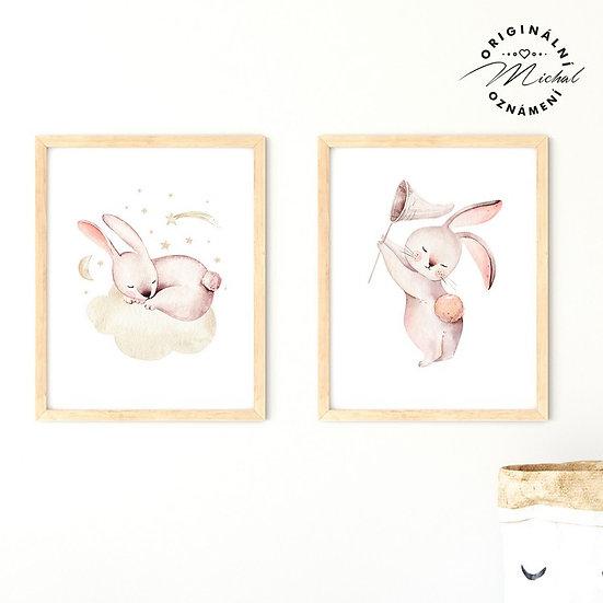 Plakát set zajíčkové