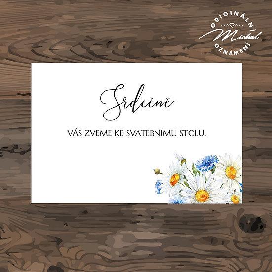 Pozvánka ke svatebnímu stolu - TYP 336