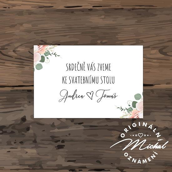Pozvánka ke svatebnímu stolu - TYP 306