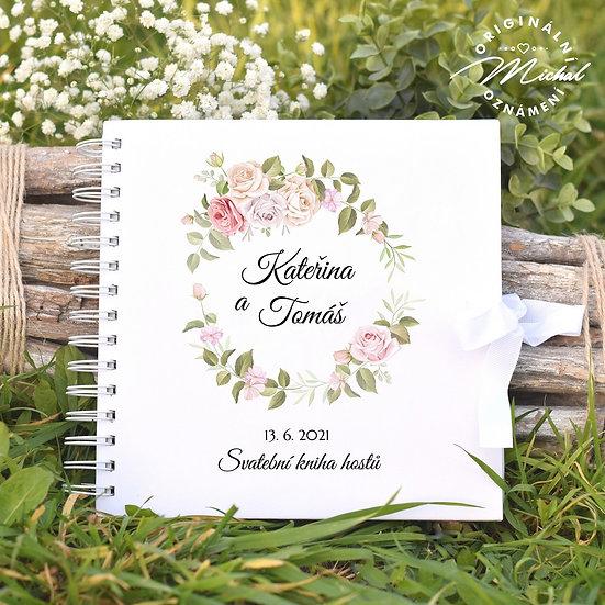 Svatební kniha hostů v pevných knižních deskách - 63