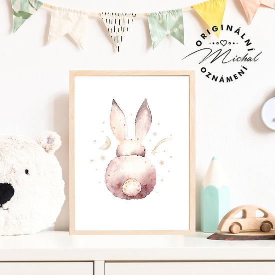 Plakát zajíček prdelka