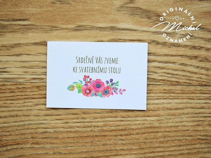 Pozvánka ke svatebnímu stolu - TYP 41