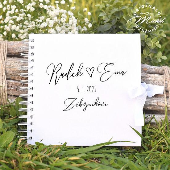 Svatební kniha hostů v pevných knižních deskách - 74
