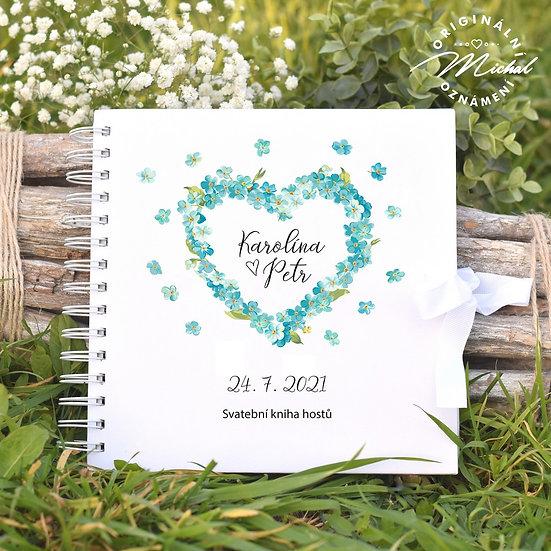 Svatební kniha hostů v pevných knižních deskách - 82