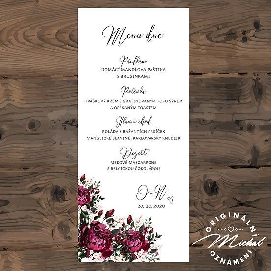Svatební menu - TYP M02