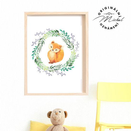 Plakát liška ve věnci