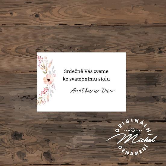 Pozvánka ke svatebnímu stolu - TYP 138