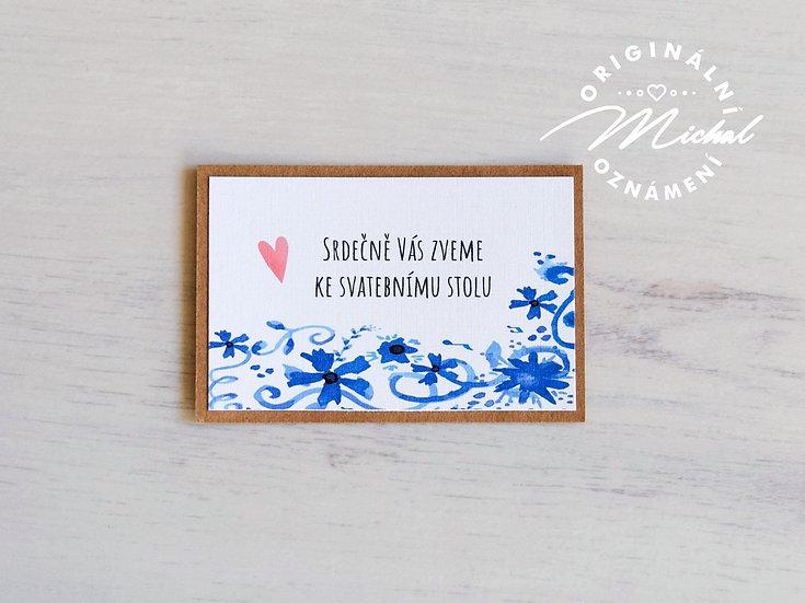 Pozvánka ke svatebnímu stolu - TYP 15
