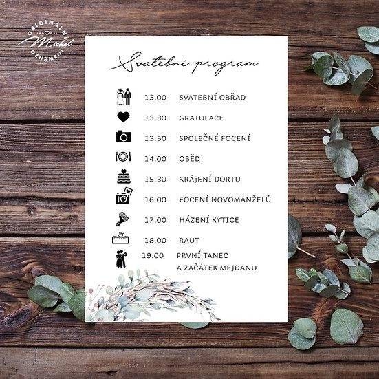 Svatební program - P14
