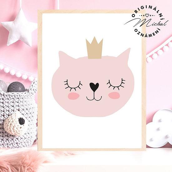 Plakát kočička princezna