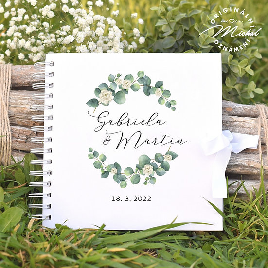 Svatební kniha hostů v pevných knižních deskách - 49