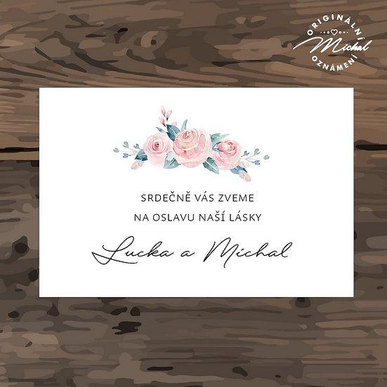 Pozvánka ke svatebnímu stolu - TYP 320