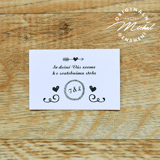 Pozvánka ke svatebnímu stolu - TYP 51