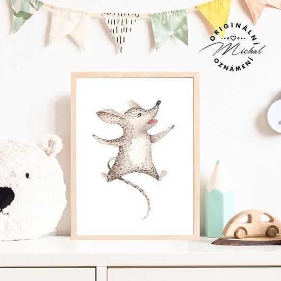 Plakát myška Olinka