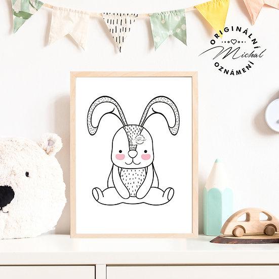 Plakát roztomilý králíček