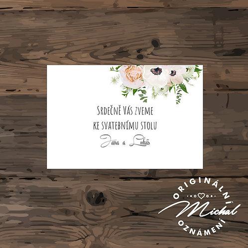 Pozvánka ke svatebnímu stolu - TYP 81