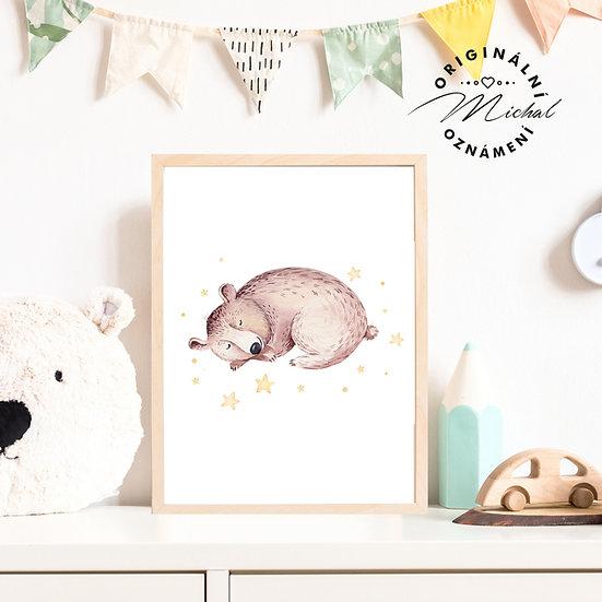 Plakát spinkající medvídek