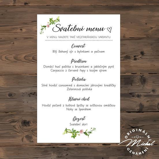 Svatební menu - TYP 132