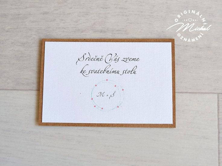 Pozvánka ke svatebnímu stolu - TYP 07