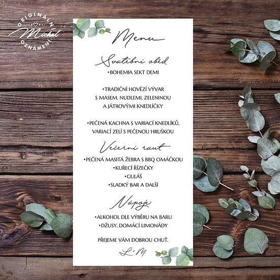 Svatební menu - TYP M12