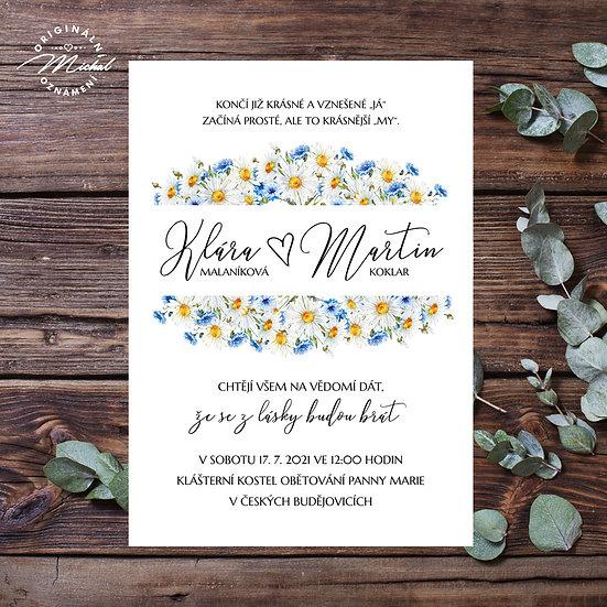 Svatební oznámení - TYP 336