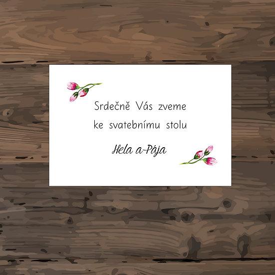 Pozvánka ke svatebnímu stolu - TYP 135