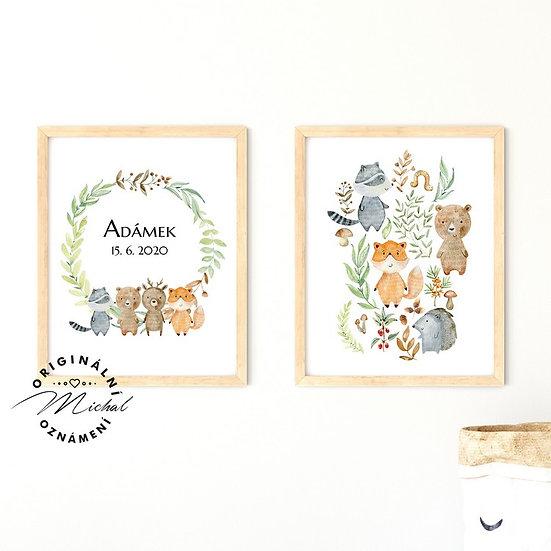 Plakát set kamarádi z lesa