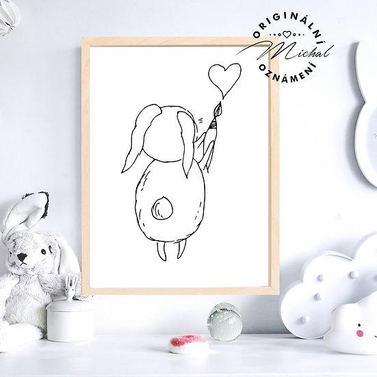 Plaká zajíček králíček malíř