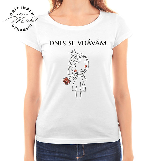 Svatební tričko s potiskem - D46