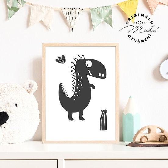 Plakát dinosaurus diník 3 pro kluky