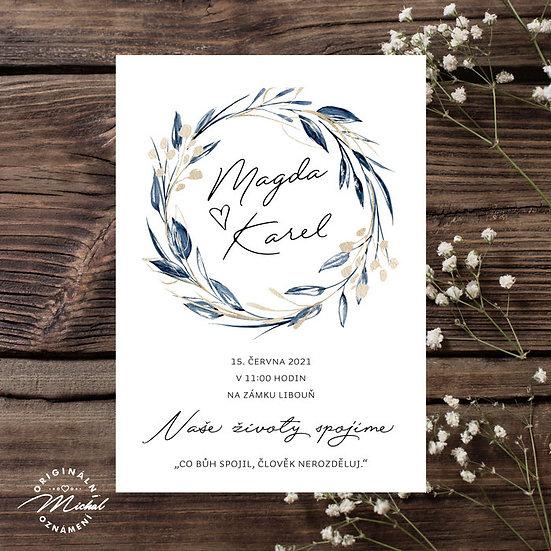 Svatební oznámení - TYP 311