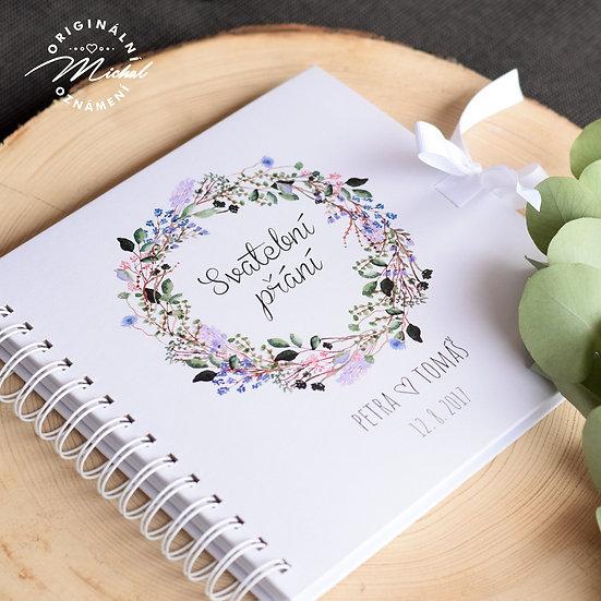 Svatební kniha hostů v pevných knižních deskách - 20