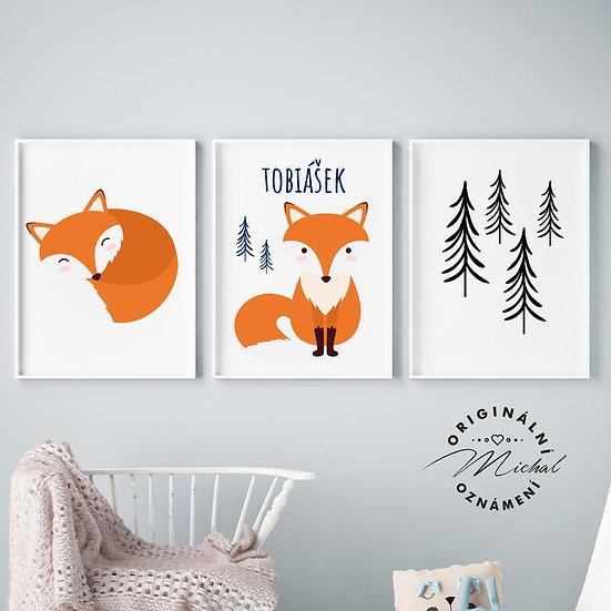 Lišáček v lese set – plakáty