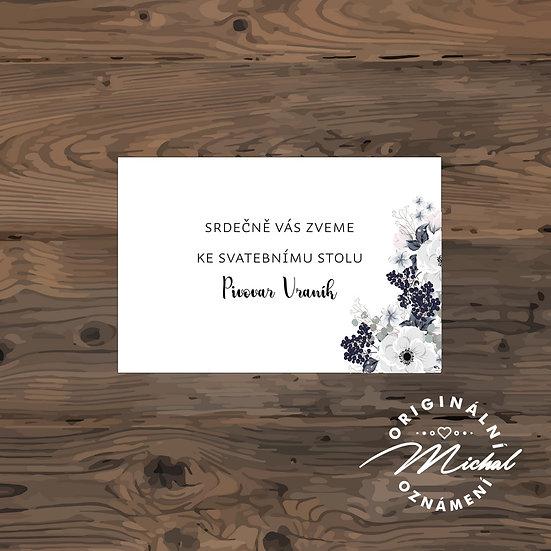 Pozvánka ke svatebnímu stolu - TYP 151