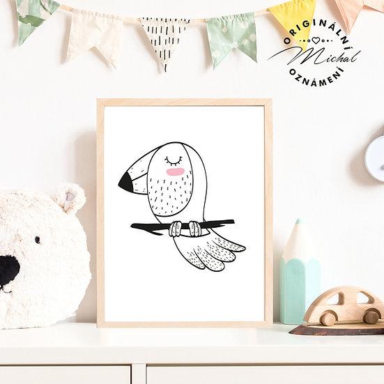 Plakát ptáček 3