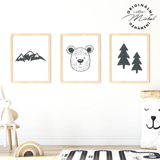 Plakát set hory lesy příroda
