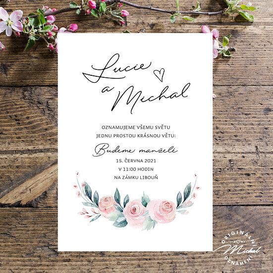 Svatební oznámení - TYP 320