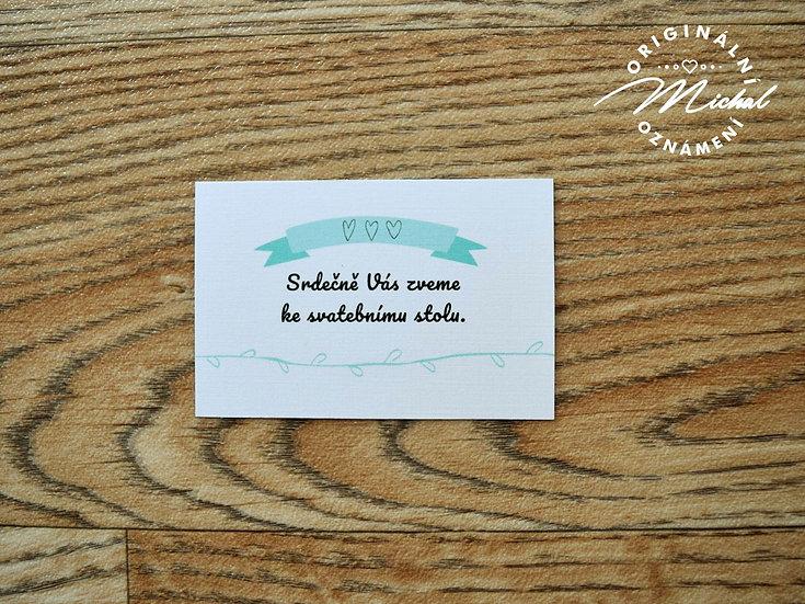 Pozvánka ke svatebnímu stolu - TYP 38
