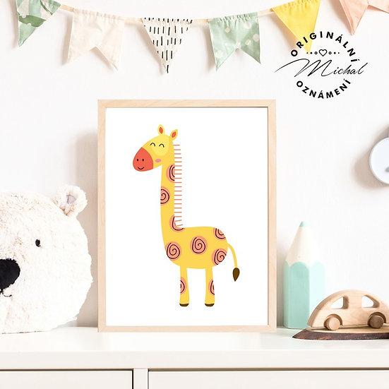 Plakát žirafa žirafka Hanička