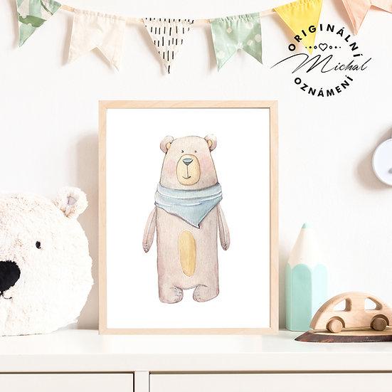 Plakát medvídek Béďa