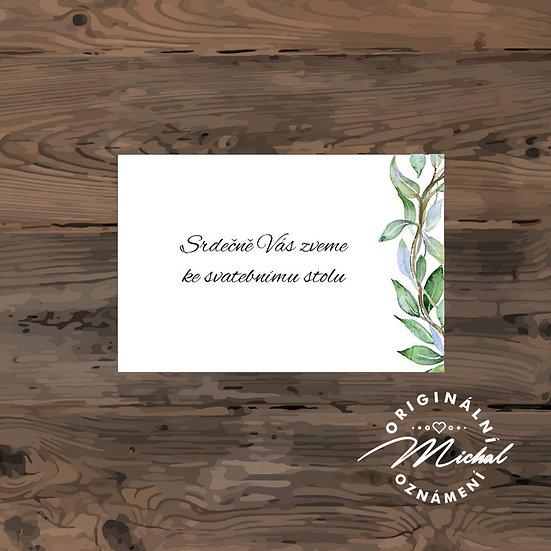 Pozvánka ke svatebnímu stolu - TYP 211