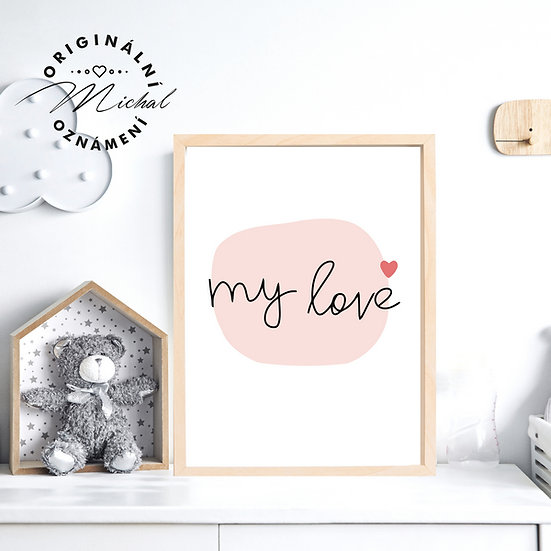 Plakát My love