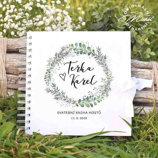 Svatební kniha hostů v pevných knižních deskách - 1