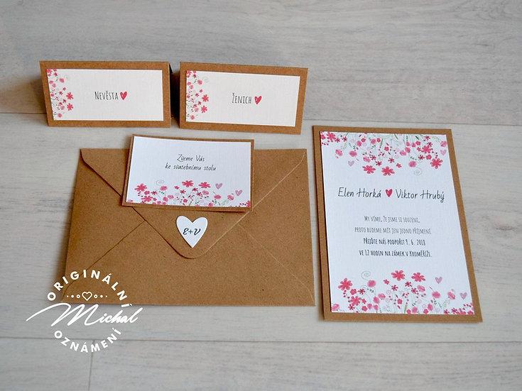 Pozvánka ke svatebnímu stolu - TYP 28